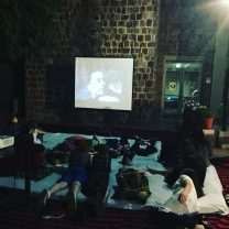 The outside movie was a big hit!