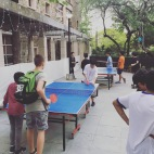 Ping pong outside.