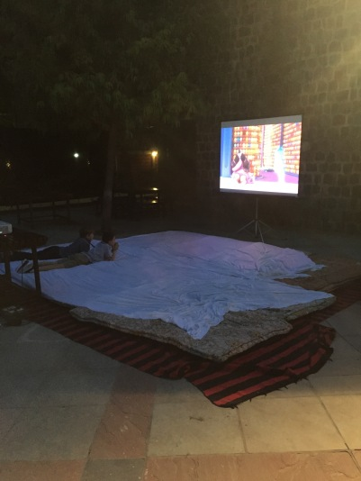 Outside movie.