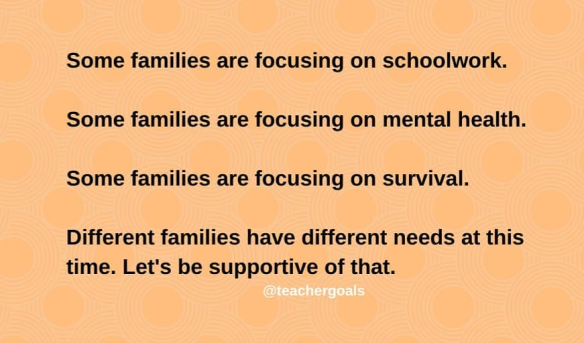 Different families, different needs